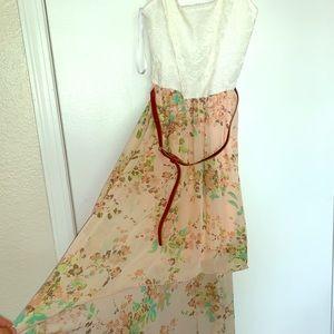 Short-to-Long flower dress